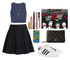 """Going to a 5sos concert."" by zammit-eleanor ❤ liked on Polyvore featuring Retrò, Topshop, H&M, adidas Originals, Kate Spade, Joolz by Martha Calvo, Estée Lauder, Stila and Too Faced Cosmetics"