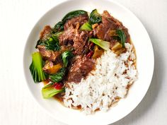 Get this all-star, easy-to-follow Slow-Cooker Chinese Beef and Bok Choy recipe from Food Network Magazine.