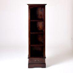 Country Mahogany Narrow Bookcase - Wicker Emporium