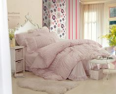 Aliexpress.com : Buy Korean 100% cotton Twill reactive printing adult 4pcs bedding sets with nice lace edge Bed Skirt and pillow case comforter sets from Reliable bedding sets suppliers on Yous Co., Ltd. $90.00