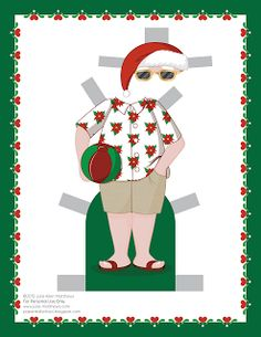 Paper Doll School: December Paper Doll -- Santa Claus Paper Doll, Outfit 7