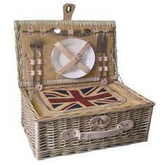 English picnic basket-------I've one similar to this but with a Burberry 'Haymarket check' lining