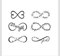 Infinity Symbols Set-Temporary Tattoo#Various#Trusper#Tip