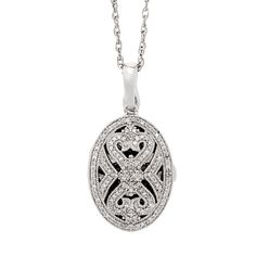 Diamond Filigree Locket in Sterling Silver. $799.00    http://www.benbridge.com/shop/product.php?productid=999002050=21=3
