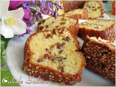 Grape Cake with Yogurt - Dessert Bread Recipes Banana Dessert Recipes, Healthy Dessert Recipes, Easy Desserts, Cake Recipes, Yogurt Recipes, Bread Recipes, Yogurt Dessert, Dessert Bread, Yogurt Cake