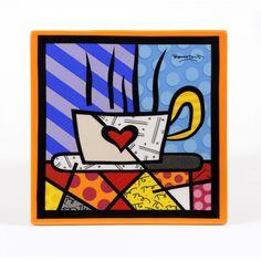 """Plato de adorno """"COFFEE HEART"""""""