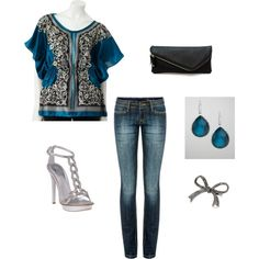 """""""Blue and Silver"""" by beboc on Polyvore"""