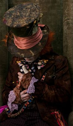 {Johnny Depp as the Mad Hatter, in Alice In Wonderland}, Directed by Tim Burton in 2010 Lewis Carroll, Tim Burton, Go Ask Alice, Chesire Cat, Johny Depp, Alice And Wonderland Quotes, Alice In Wonderland Background, Wonderland Party, Were All Mad Here