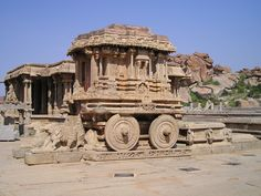 Ancient ruins. Hampi.