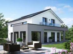 fassadengestaltung – Google-Suche Living Haus, Bungalow Exterior, Beautiful Nature Wallpaper, Entrance Doors, House Colors, Sunshine, Villa, Farmhouse, Mansions