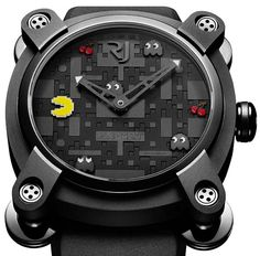 Romain Jerome PAC MAN Watch--The amount of matte black gives this a lot of situational appropriateness.