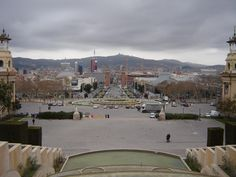 View from National Museum of Art of Catalonia in Barcelona