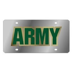 US Army Stainless Steel License Plate