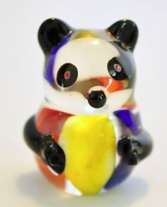 Vintage Blown Art Glass Panda Figurine - this is just too cute! Know someone who collects? They need this!