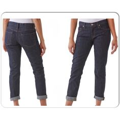 BB Dakota Boyfriend Jeans This jeans is with a slightly loose, relaxed fit. Hit at the ankle. It is perfect to pair with heels or ankle boots. It is in dark navy shade. BB Dakota Jeans Boyfriend