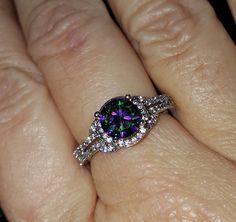 Stunning Mystic Topaz ring by SterlingExpressionsJ on Etsy