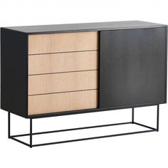 Virka is an elegant and timeless sideboard. With clean lines and a simple expression, the Virka sideboard can be a part of a consistent design language or be a standalone object. Low Sideboard, Black Sideboard, Sideboard Cabinet, Side Board, Interior Design Business, Top Interior Designers, Oak Veneer Plywood, Commode Design, Home Furniture
