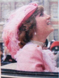 July 29, 1981: Prince Charles & Princess Diana leave Buckingham Palace for Waterloo to board the train.