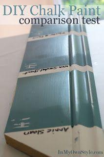 chalk paint for furniture | denise cerro: Furniture reveal using DYI chalk paint recipe...