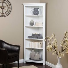 living room white corner shelf space saving furniture home decorating ideas