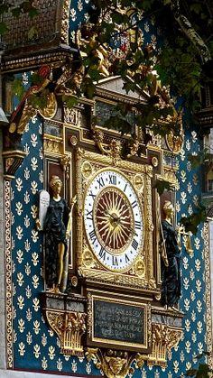 Clock Tower (Tour de l'Horloge), La Conciergerie, Paris - the first town clock in Paris, originally built in 1371