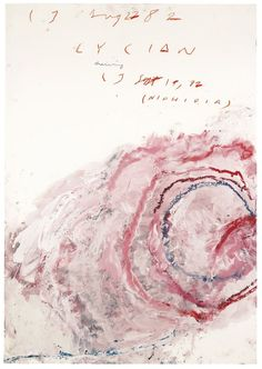 CY TWOMBLY 1928 - 2011 LYCIAN DRAWING (NIPHIDIA)