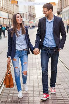denim based couple outfit                                                                                                                                                                                 More