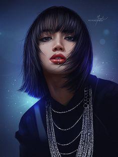 ArtStation - LISA - How You Like That | Fanart🔥, Maricruz Ac Pink Drawing, Blackpink Poster, Lisa Blackpink Wallpaper, Kpop Drawings, Speed Paint, Black Pink Kpop, Fan Art, Digital Art Girl, Blackpink Photos
