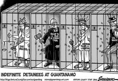 Guantanamo Detainees : they are STILL there, no rule of law, no due process, prisoners of a country that claims all of the above