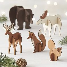 Laser cut animals