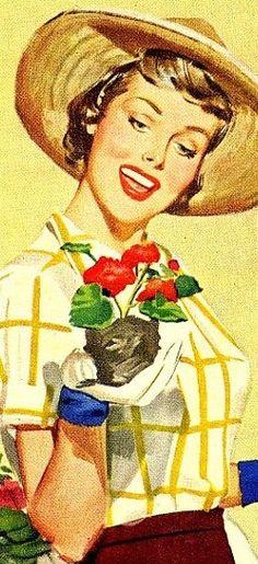 vintage gardener  @Camille Blais Blais Blais Olsen  to my forever friend and garden girl~