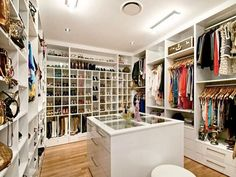 walking-closet ideas - That's what I'm talking about! Master Closet, Closet Bedroom, Closet Space, Huge Closet, Master Bedroom, Closet Redo, Bedroom Decor, Bath Decor, Bedroom Bed