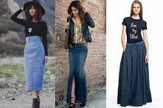 Resultado de imagen para faldas largas de moda 2014 juveniles