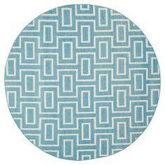 Safavieh Montauk Flat Weave Wool Rug - Ivory/Artic Blue