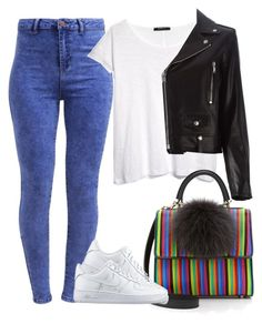 Style - 132 by melikekeles on Polyvore featuring polyvore fashion style MANGO Yves Saint Laurent New Look NIKE Les Petit Joueurs clothing