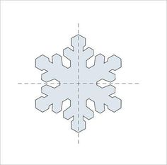 Easy Snowflake Template  Crafts Etc    Snowflake Template