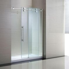 Schon Lindsay 60 in. x 79 in. Semi-Framed Shower Enclosure with Sliding Glass Shower Door in Chrome and Clear Glass-SC70019 - The Home Depot