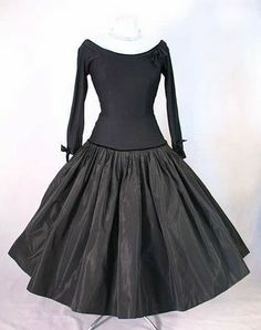 This beauty of a 1950's circle skirted party dress is from the exclusive Jay Thorpe boutique on W. 57th St in New York.
