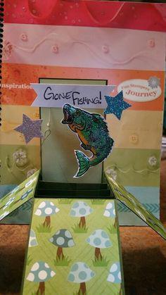 Gone Fishing box card.