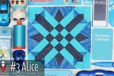 Alice is Block 3 of Farmer's Wife 1930's Sampler Quilt