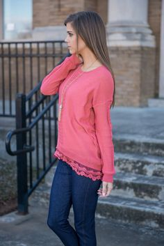 """Dreamy Details Sweater, Dark Rose"" 
