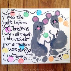 Night Before Christmas Footprint Mouse Canvas http://www.craftymorning.com/night-before-christmas-footprint-mouse-canvas/