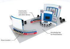 Welcoming Multiuse Space #exhibits, #tradeshow, #booth stands,#booth design