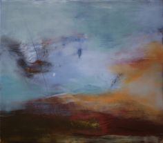 "Encaustic — Mel Rea :: Crossing Blue :: 28""x32"""