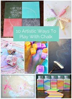 Fun chalk art and craft ideas for kids.
