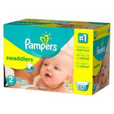 Wrap your baby in Pampers Swaddlers diapers, our most trusted comfort and protection and the #1 Choice of US Hospitals.* Our Blankie Soft™ diaper with a unique Absorb Away Liner™ pulls wetness and mess away from baby's skin to help keep your baby comfortable. It also has a color-changing wetness indicator that tells you when your baby might need a change. Finally, soft, stretchy sides are designed to flex with your baby's every move.<br><br>*Based o...