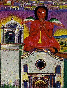 """Angela"""" - Rodolfo Morales.  Oaxaca, Mexico, 1996.  Indigo Arts Gallery   Art from Oaxaca   Morales"""