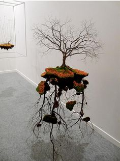 JORGE MAYET [This piece of art has an amazing display of not only a great tree - but the root system that supports the tree - It his a voice - as the tree reaches two ways - UP toward the light and DOWN deeper into the solid earth _ House of Warner] Art Sculpture, Abstract Sculpture, Sculptures, Art Environnemental, Modern Art, Contemporary Art, Instalation Art, Art Anime, Environmental Art