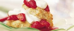 Layered berries and whipped cream with melt-in-your-mouth shortcakes? Here's a recipe to use for serving a huge crowd.