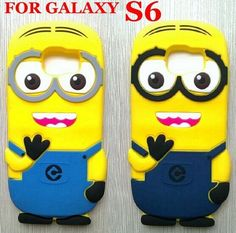Samsung Galaxy S6 3D Cute Despicable Me Minions Soft Rubber Silicone Cases Back Cover For Samsung S6 G9200 Phone Case